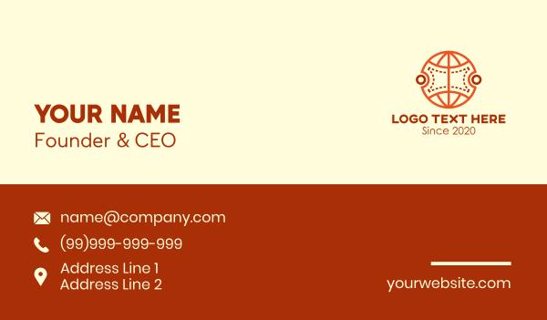 global business - Global Ticket Coupon Business card horizontal design