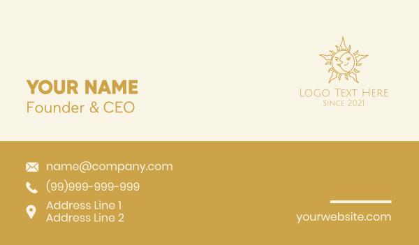 spirituality - Merged Moon and Sun  Business card horizontal design