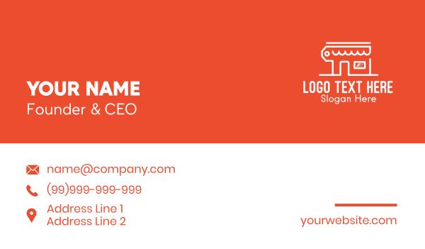 mart - Shopping Retail Store Business card horizontal design