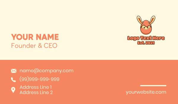 kids party - Bunny Rabbit Egg Ninja Business card horizontal design