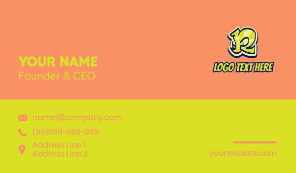 graphic artist - Wildstyle Graffiti Letter R Business card horizontal design