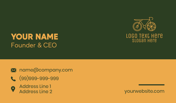 bicycle - Pizza Delivery Bicycle Business card horizontal design
