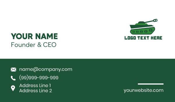 green gun - Green Tank Business card horizontal design