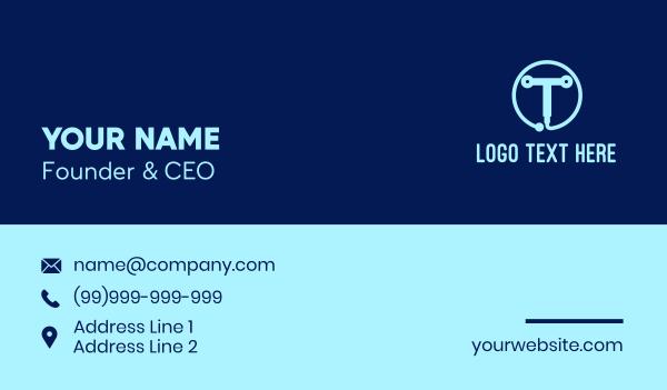 Tech Letter T Business Card
