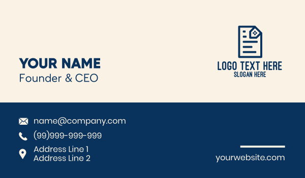 contract - Real Estate Contract  Business card horizontal design
