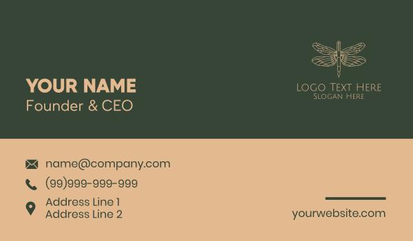 news editor - Dragonfly Fountain Pen Business card horizontal design