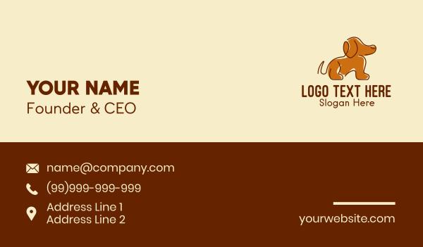 groomers - Brown Beagle Dog  Business card horizontal design