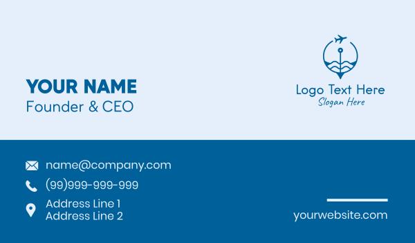 traveling - Air Travel Compass  Business card horizontal design