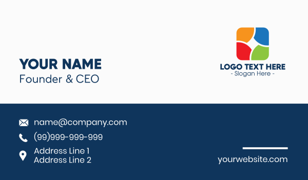 Colorful Daycare Learning Center Business Card