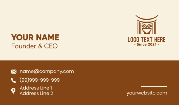 food service - Asian Food Noodle Business card horizontal design