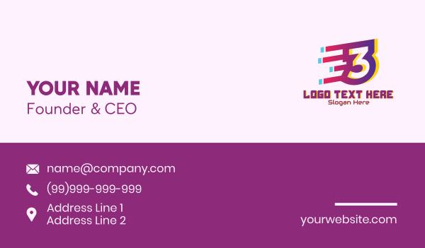 speedy - Speedy Number 3 Motion Business card horizontal design