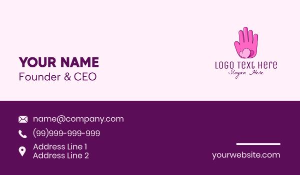 moisturizer - Pink Lovely Butterfly Hand Business card horizontal design