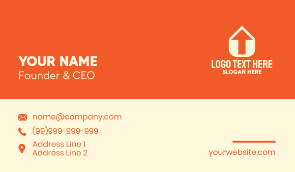 upload - Home Arrow Delivery Service Business card horizontal design
