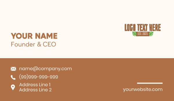 tiki - Wooden Tiki Wordmark Business card horizontal design