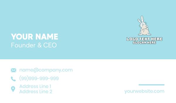 easter sunday - Egg Hug Easter Bunny Business card horizontal design