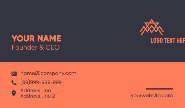 spider - Abstract Orange Spider Tech Business card horizontal design