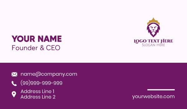 sigil - Royal Lion Crown Business card horizontal design