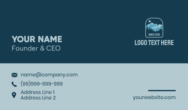alpine - Outdoor Mountain Camp  Business card horizontal design