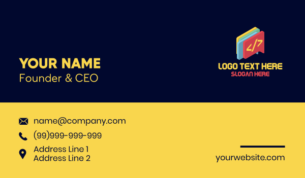 messenger - Code Chat Bubble Business card horizontal design