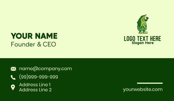 avocado - Muscular Healthy Avocado  Business card horizontal design