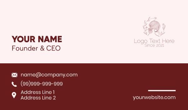 maiden - Minimalist Beautiful Woman  Business card horizontal design