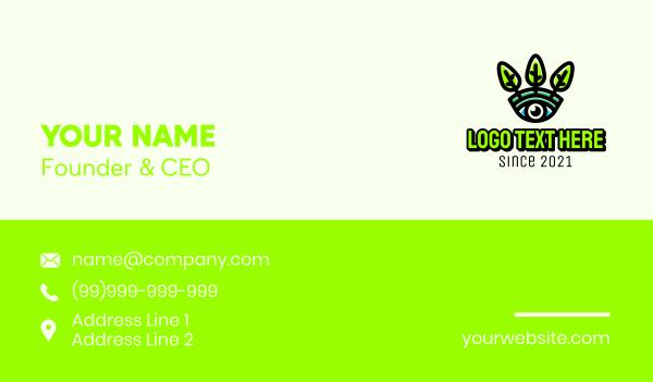 surveillance camera - Eco Eye Leaf Business card horizontal design