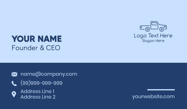 truck company - Delivery Truck Business  Business card horizontal design
