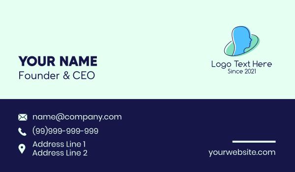 memory - Human Psychology  Business card horizontal design