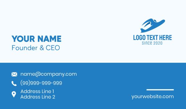 airway - Blue Bird Plane Business card horizontal design