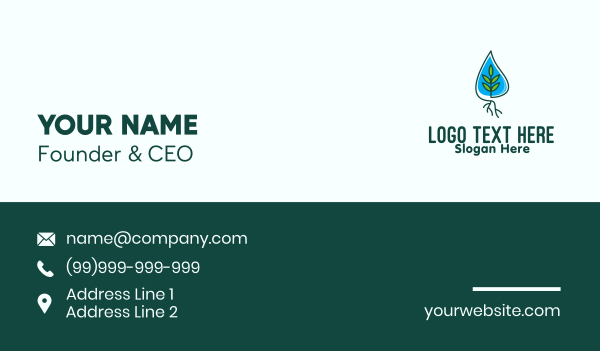 home garden - Mangrove Tree Planting Business card horizontal design