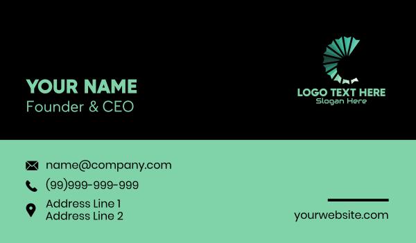 Seashell Music Letter C Business Card