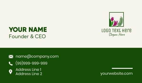 orchard - Natural Flower Fern  Business card horizontal design
