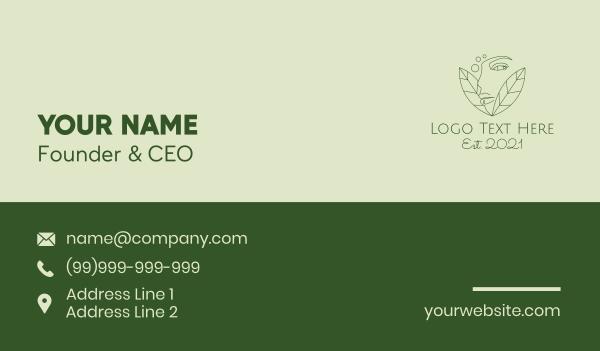 beauty vlogger - Natural Beauty Spa Business card horizontal design