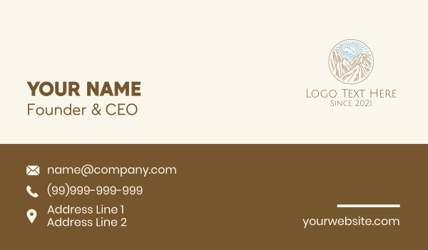 scenery - Sky Mountain Landscape  Business card horizontal design
