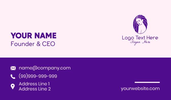 maiden - Beauty Woman Hairstylist  Business card horizontal design