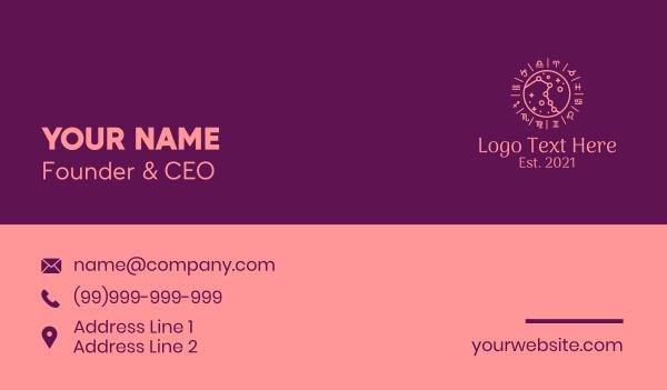 mystical - Chinese Zodiac Symbols Business card horizontal design