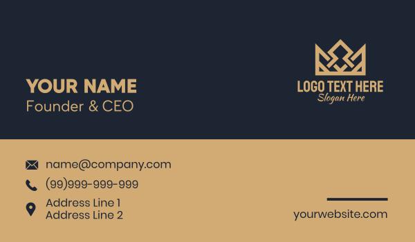 victorian - Royal Monarchy Crown Business card horizontal design