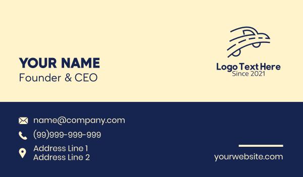 auto dealer - Blue Road Car Business card horizontal design