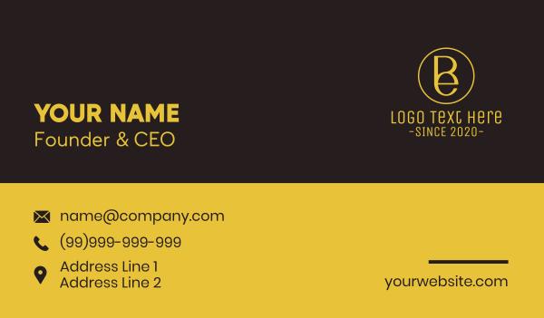 wealthy - Elegant Emblem B & E Business card horizontal design