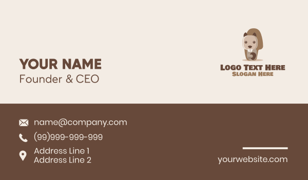 animal welfare - Cute Beaver Character  Business card horizontal design