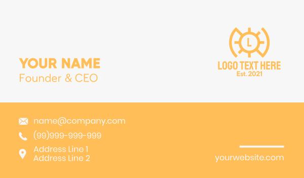 sunlight - Solar Energy Letter Business card horizontal design