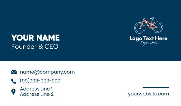 cyclist - Cycling Sports Club  Business card horizontal design