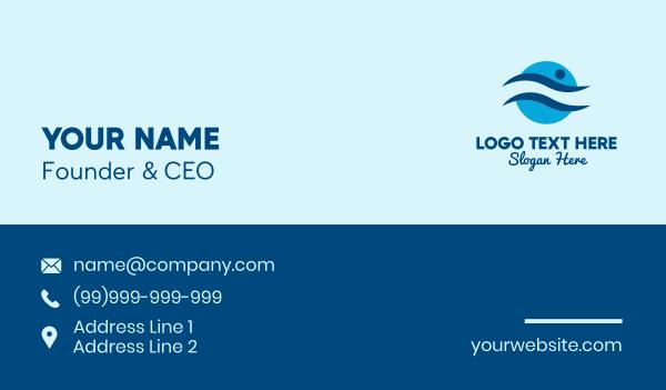 swimsuit - Swim Team Emblem  Business card horizontal design