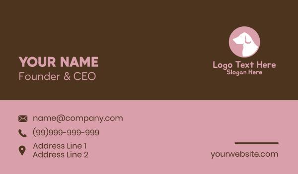 dog walker - Labrador Vet Silhouette Business card horizontal design