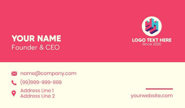 television - 3D Media Company YH Business card horizontal design