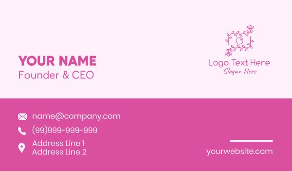 camera shop - Beauty Photographer Camera Flower  Business card horizontal design