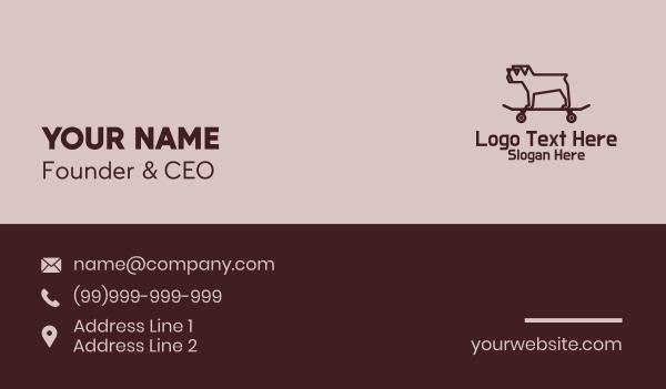 dog trainer - Minimalist Pug Skateboard Business card horizontal design