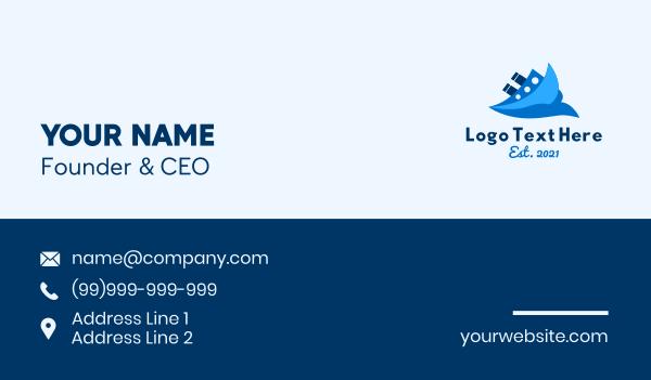 cruise - Ocean Travel Boat Business card horizontal design