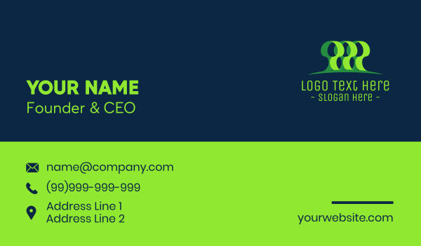 rainforest - Green Forest Business card horizontal design