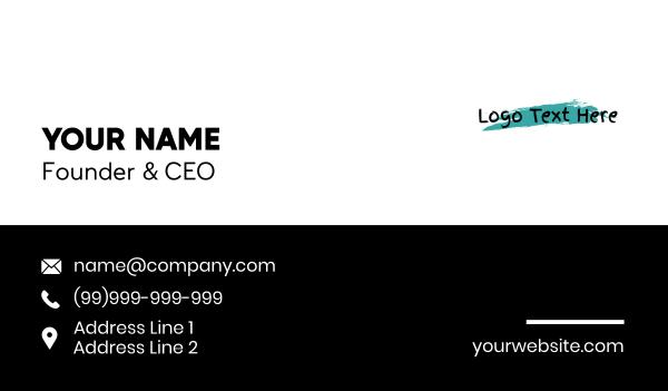 paint store - Art Gallery Wordmark  Business card horizontal design